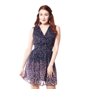 INNOCENT LIFESTYLE - DIAMOND CUT DRESS LADIES NAVY