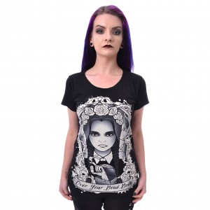HEARTLESS - OVER YOUR DEAD BODY T LADIES BLACK