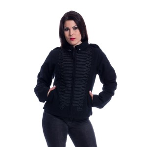 POIZEN - Black Parade Jacket Ladies Black *NEW IN*