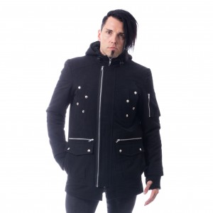 VIXXSIN - Parole Coat Mens Black *a1