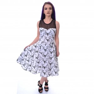 CHEMICAL BLACK - PAYNE DRESS LADIES BLACK/WHITE |b|
