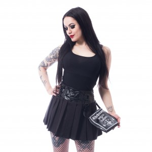 HEARTLESS - Pentagram Skirt Ladies Black *a1