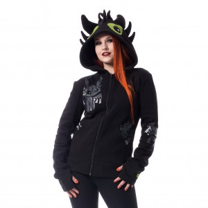 CUPCAKE CULT - Pet Dragon Hood Ladies Black *a1