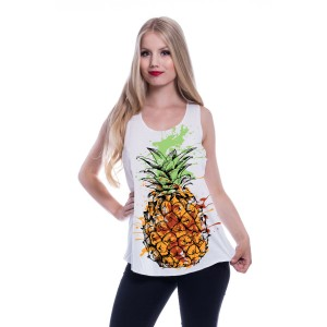 INNOCENT LIFESTY - Pineapple Martini Vest Ladies White *NEW IN-a*