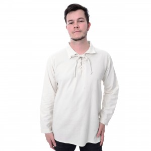 INNOCENT LIFESTYLE - PIRATE SHIRT MENS WHITE |c|