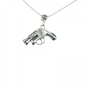 POIZEN INDUSTRIES - PISTOL P1 NECKLACE LADIES SILVER