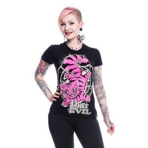 CUPCAKE CULT - Purr Evil T Ladies Black *NEW IN*