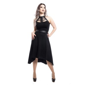 POIZEN - RAVETTE DRESS LADIES BLACK