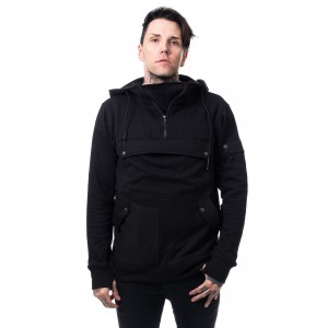 HEARTLESS - REID HOOD MENS BLACK |c|