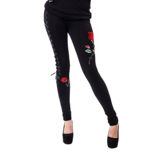 VIXXSIN - ROSE CORSET LEGGINGS LADIES BLACK