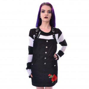ROCKABELLA - ROSE PINAFORE DRESS LADIES BLACK XL