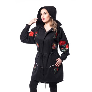 ROCKABELLA - ROSE TOUR COAT LADIES BLACK *NEW*