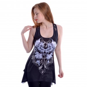 INNOCENT LIFESTY - Selma Lace Panel Vest Ladies Black *NEW IN-a*