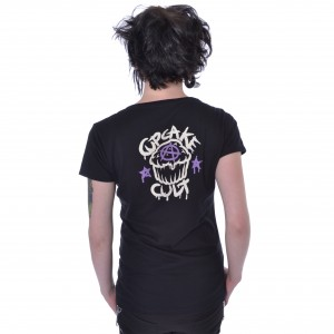 CUPCAKE CULT - Shadow Cat T Ladies Black *a1