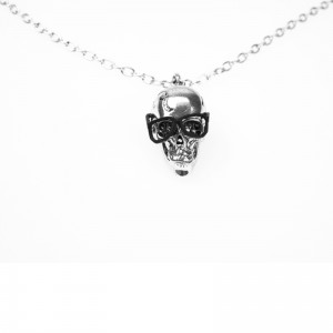 POIZEN INDUSTRIES - SKULL NERD P1 NECKLACE LADIES BLACK
