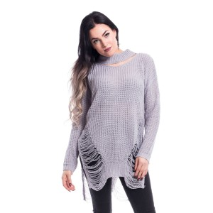 VIXXSIN - Slit Neck Decay Jumper Ladies Grey *NEW IN*