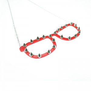 CUPCAKE CULT - SPIKE SHADES NECKLACE LADIES RED