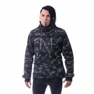 VIXXSIN - Splinter Jacket Mens Grey Camo *a1