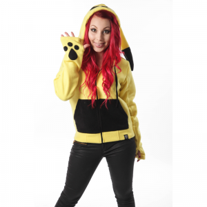 CUPCAKE CULT - STRIKER HOOD LADIES YELLOW