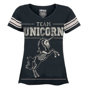 HEARTLESS - Team Unicorn T Ladies Black *NEW IN-a*