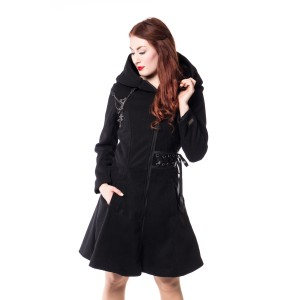 ALCHEMY - TEARS COAT LADIES BLACK