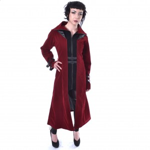 CHEMICAL BLACK - Templar Coat Ladies Red *a1