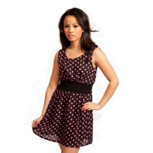 POIZEN INDUSTRIES - THREE DRESS LADIES BLACK/PINK