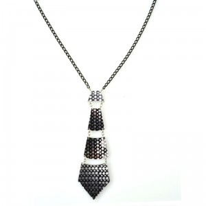 POIZEN INDUSTRIES - TIE STAR NECKLACE LADIES BLACK