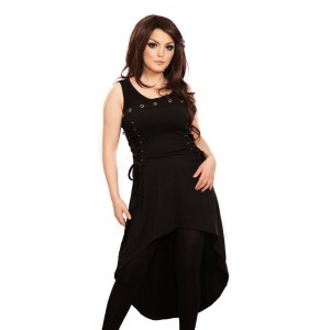 POIZEN INDUSTRIES - TONIC DRESS LADIES BLACK