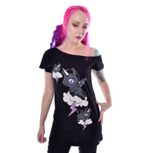 CUPCAKE CULT - Unicorn Cloud Top Ladies Black *a1