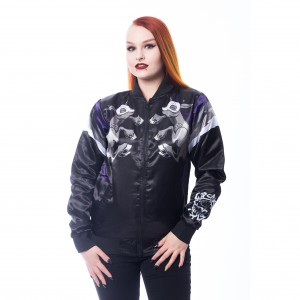 CUPCAKE CULT - UNICORN NIGHT JACKET LADIES BLACK |b|a