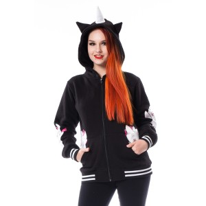 CUPCAKE CULT - Unicorn Day Care Hood Ladies Black *NEW IN*