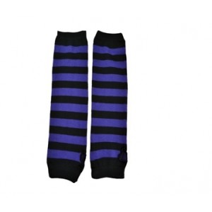 POIZEN INDUSTRIES - STRIPE ARMWARMERS LADIES BLACK/PURPLE