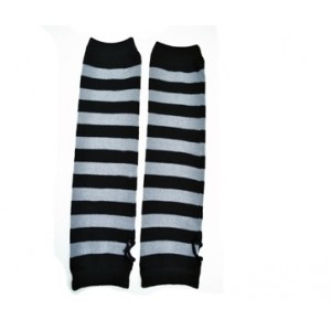 POIZEN INDUSTRIES - STRIPE ARMWARMERS LADIES BLACK/GREY