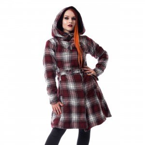 POIZEN INDUSTRIES - VAIL COAT LADIES RED/WHITE CHECK |c|