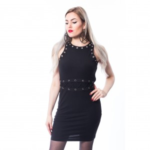 CHEMICAL BLACK - VAISY DRESS LADIES BLACK |b|a