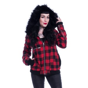 VIXXSIN - Via Jacket Ladies Red Check *NEW IN*