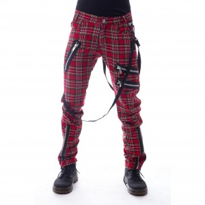 VIXXSIN - Vincent Pants Mens Red Tartan *a1