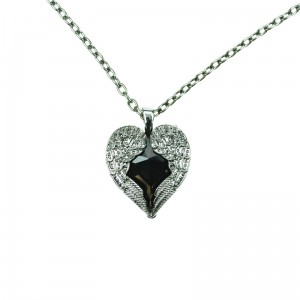 POIZEN INDUSTRIES - WING HEART P1 NECKLACE LADIES BLACK