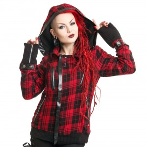 POIZEN INDUSTRIES - Z JACKET LADIES RED CHECK